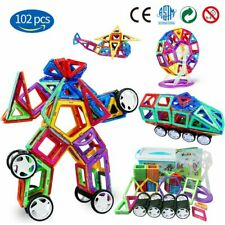 102 Piece Magnetic Tiles magnetic Building Blocks Toys for Kids