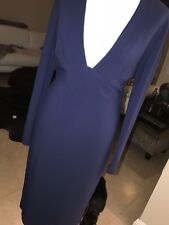 STELLA MCCARTNEY Blue Bodycon COCKTAIL DRESS SIZE 40 UK 12 Bnwt RRP £1150