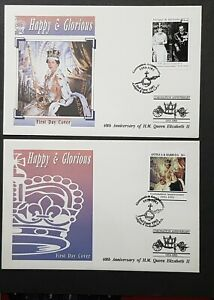 Antigua & Barbuda: 40th Anniv. of Coronation; Pair of First Day Covers (FDC)