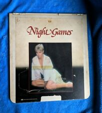 NIGHT GAMES CED Videodisc 1983 Erotic Thriller Horror Cindy Pickett Barry Primus
