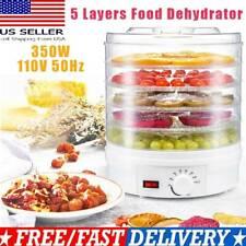 5 Tray Food Dehydrator Height Adjustable Fruit Dryer Meat Jerky Herbs Machine