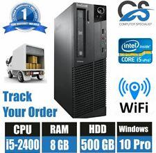 FAST LENOVO M92p COMPUTER DESKTOP PC INTEL i5 2400 @ 3.10 WIFI 8GB RAM 500GB HDD