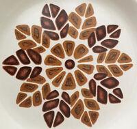 "VTG Nikko ""Arrowhead"" Stoneware lot of 2 Dinner Plates HTF 1970s earthtone Aztec"