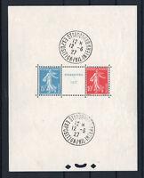 "FRANCE BLOC FEUILLET 2 a "" STRASBOURG 1927 "" NEUF xx AVEC CACHET EXPO. TTB R524"