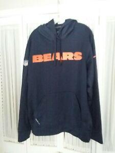 Men's Chicago Bears NIKE Therma Fit On Field Apparrel Hoodie Sweatshirt Size L