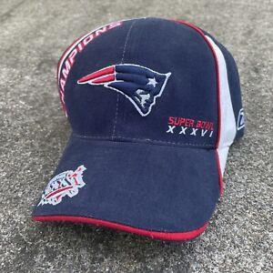2003 Reebok NFL Adjustable Hat New England Patriots Super Bowl 36 Champions