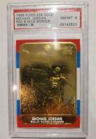 1998 Michael Jordan Fleer Rookie 23K Gold CERTIFIED NR- Mint 8