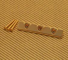 GB-LAP-G Gretsch Gold Lap Steel Universal Low Profile Flat Mount Guitar Bridge