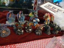 large Dragon Figurines - Yardwork Originals/7 small dragons