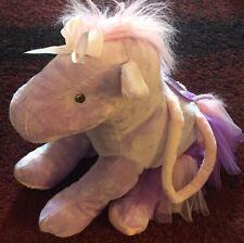 "Toby N.Y.C. Big Purple Pony Plush Purse with Toole Skirt 19"""