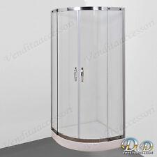 Box cabina doccia 90x90 semicircolare cristallo 8 mm tondo angolare scorrevole