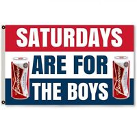 Saturdays are for the boys Budweiser Bud Beer Flag Banner 3x5Feet