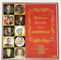 Christmas Greetings From Nashville 1973 Promo LP APL1-0262 Chet Atkins Hank Snow