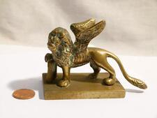 Antique italie grand tour laiton winged lion de saint marc à venise statue