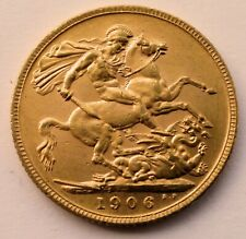 More details for full gold sovereign 1906 edward vii -  vf+ (very fine) condition 7.98 grams 22ct