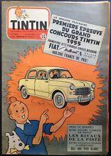 TINTIN Édition belge fascicule n°50 du 15 décembre 1954 + supplément Bon état