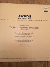 Archive Production The Works Of Johann Sebastian Bach Classical Vinyl LP