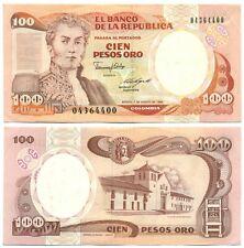 COLOMBIA NOTE 100 PESOS ORO 7.8.1989 P 426d UNC