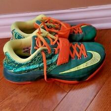 Nike KD V11 7 Kevin Durant Emerald Green Orange - 653996-303 - Size 8