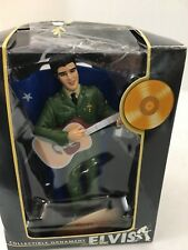 "Elvis Collectible Christmas Ornament ""Serving the Country"" Box Trevco 2004"