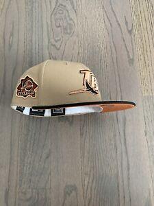 Exclusive New Era Tampa Bay Rays MLB club hat Size 7 1/8 Rust UV Rust Belt