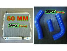 50MM GPI aluminum radiator Toyota Surf Hilux 2.4/2.0 LN130  AT/MT &blue hose