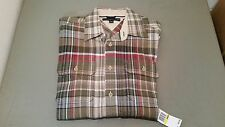 new mens tommy hilfiger s/s button front shirt