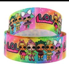 "LOL Surprise ribbon 1m long 1"" wide (rainbow)"