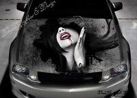 Vampire Girl Car Bonnet Wrap Decal Full Color Graphics Vinyl Sticker #217