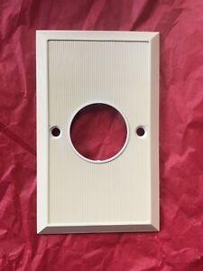Used Vintage Round Hole Phone Jack Thin Cover withHorizontal Screw holes