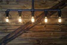 5-Light Pendant Steampunk Pipe Chandelier Ceiling Wall Lamp Stand Retro Style