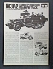 Tamiya 1/35th Scale M3A2 Halftrack Directions from Kit No. 35170