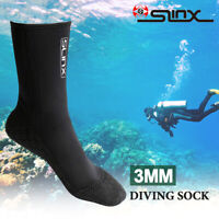SLINX 3mm Adult Unisex Neoprene Diving Scuba Surfing Snorkeling Swimming Socks