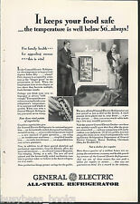 1929 General Electric Refrigerator advertisement, early MONITOR-TOP fridge, GE