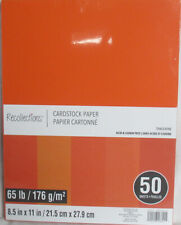 """Recollections Cardstock Paper 8 1/2"""" x 11"""" 50 Sheets 65 lb 5 Color Tangerine"""