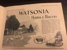 Watsonia Hams & Bacon 1933 Vintage West Australian Print Ad 1/2 Page