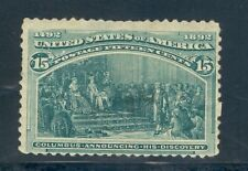 US 238 Columbian 15c dark green, Mint HR glazed gum