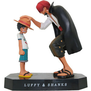 Figurine One piece Luffy & shanks en PVC de 15cm - Jouet Collection Dessin Animé