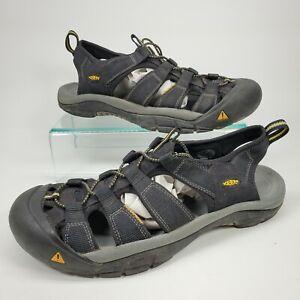 Keen Waterproof Fisherman Sandals Hiking Black Yellow Men's Size 12