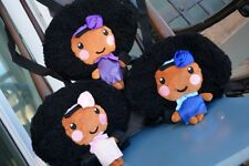 Handcrafted, Super Cute Black/ African American Backpack Dolls (3-Pack)