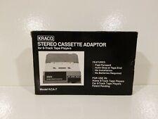 Kraco Stereo Cassette Adaptor 8 Track Tape Players Model KCA 7  Never Used