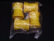 VINTAGE Tamiya Complete Set Yellow Front & Rear Rims Lunchbox
