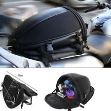 Motorcycle Accessories Tail Bag Back Seat Storage Carry Luggage Saddlebags