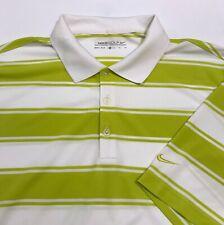 Nike Golf Men's Dri-FIT Mesh Tech Stripe Polo Shirt White Green XL