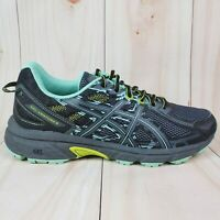 Asics Womens Gel Venture 6 T7G7N Dark Gray Mint Running Shoes Lace Up Size 9.5 D