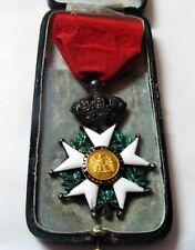 FRANCE IMPERIAL ORDER  LEGION OF HONOUR SILVER, GOLD .NAPOLEON III. CRIMEAN WAR.