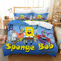 3D Spongebob Family Quilt Cover Comforter Cover Single/Queen/King 3pcs 23