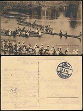 CAMEROON 1916 GERMAN KAMERUN b...DUALA POSTMARK on PPC from SIGNALS + TELEGRAPHS