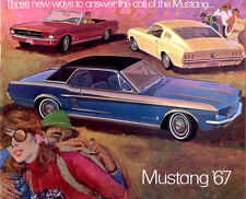 Classic Ford Mustang Sales Brochures 1967 Reproduction Vintage dealer literature