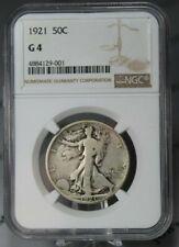 1921 Walking Liberty 50c NGC G4